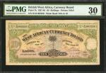 BRITISH WEST AFRICA. Currency Board of British West Africa. 10/- Shillings, 1937-48. P-7b. PMG Very
