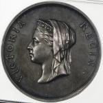 GREAT BRITAIN Victoria ヴィクトリア(1837~1901) AR Medal 1883 NGC-MS62 トーン AU~UNC