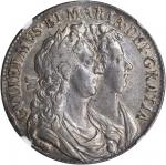 GREAT BRITAIN. 1/2 Crown, 1689. William & Mary (1689-94). NGC AU-55.