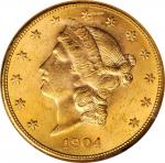 1904-S Liberty Head Double Eagle. MS-63 (NGC).