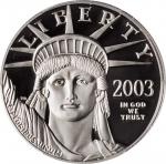 2003-W One-Ounce Platinum Eagle. Proof-69 Deep Cameo (PCGS).