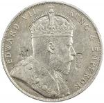 China - Chopmarked Coins. CHOPMARKED COINS: STRAITS SETTLEMENTS: Edward VII, 1901-1910, AR dollar, 1