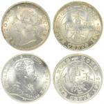 1901年和1905年香港五仙 PCGS MS 66和PCGS MS 65