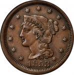 1853 Braided Hair Cent. AU-58 BN (NGC).
