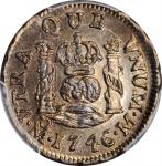 MEXICO. 1/2 Real, 1746-Mo M. Mexico City Mint. Philip V. PCGS MS-65 Gold Shield.