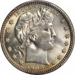 1908-S Barber Quarter. MS-65 (PCGS).