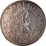 AUSTRIA. 15 Kreuzer, 1662. Vienna Mint. Leopold I. NGC MS-63.