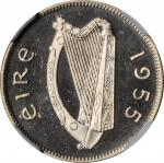 IRELAND. 6 Pence, 1955. NGC PROOF-66 Cameo.