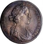 GREAT BRITAIN. Mary (of Modena) Coronation Silver Medal, ND (1685). PCGS MS-61 Gold Shield.
