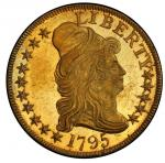 1795 Capped Bust Right Half Eagle. Bass Dannreuther-6. Rarity-5. Small Eagle. Mint State-63+ (PCGS).