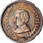 1864 George McClellan Medal. DeWitt-GMcC 1864-14. Silver. 31 mm. MS-65 (NGC).