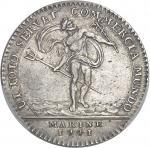 """USA Amérique-Canada (colonies françaises), Louis XV (1715-1774). Jeton """"NON VILIUS AUREO"""" au Neptune"""