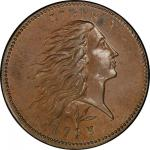 1793 Flowing Hair Cent. Sheldon-11a. Rarity-4+. Wreath. Vine and Bars Edge. Mint State-66 BN (PCGS).