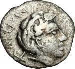 Etruscan Coins, Etruria, Populonia. AR 10-Asses, 3rd century BC. Cf. Vecchi EC I, p. 387, 7.1-2 (O1,