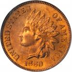 1880 Indian Cent. MS-65 RD (PCGS). OGH.