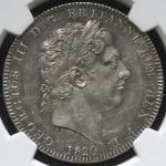 GREAT BRITAIN George III ジョージ3世(1760~1820) Crown 1820LX NGC-MS60 EF+