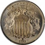 1868 Shield Nickel. MS-66+ (PCGS). CAC.
