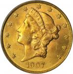 1907 Liberty Head Double Eagle. MS-63 (PCGS).