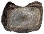 明代广西十两素面罗纹银锭一枚,重量:375.9克,保存完整