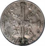 1783 John Chalmers Sixpence. W-1770. Large Date. Period After Date. Genuine--Holed and Plugged (PCGS