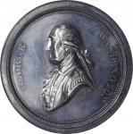 Undated (ca. 1864) Washington Letter to Hamilton Medal by J.A. Bolen. Silver. 59.0 mm. 1194.2 grains