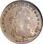 1800 Draped Bust Silver Dollar. BB-195, B-15. Rarity-4. EF-40 (PCGS).