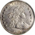 1800 Draped Bust Silver Dollar. BB-187, B-16. Rarity-2. AU-58 (PCGS).