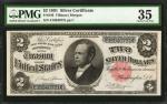 Fr. 246. 1891 $2 Silver Certificate. PMG Choice Very Fine 35.