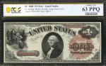 Fr. 30. 1880 $1 Legal Tender Note. PCGS Banknote Choice Uncirculated 63 PPQ.