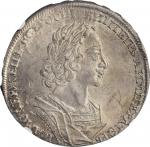 RUSSIA. Ruble, 1723. Red (Moscow) Mint. Peter I (the Great). NGC MS-61+.