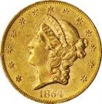 1854-S自由帽双鹰金币 PCGS AU 55