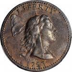 1793年自由帽1分 PCGS AU 53+  Liberty Cap Cent
