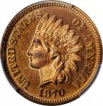1870 Indian Cent. Shallow N. Proof-64+ RD (PCGS).