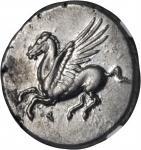 CORINTHIA. Corinth. AR Stater (8.57 gms), ca. 375-300 B.C.
