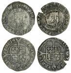 Henry VIII (1509-47), third coinage, Groats (2), both Bristol, 2.42g, m.m. -/ws, henric 8 d g ang fr