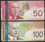 Bank of Canada, $50 (7), $100 (5), 2003-11, signatures $50 Jenkins/Dodge, $100, Jenkins/Dodge, Jenki