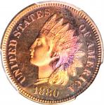 1880 Indian Cent. Proof-67 RB (PCGS).