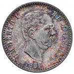 Savoy Coins;Umberto I (1878-1900) 50 Centesimi 1889 - Nomisma 1011 AG R Graffietti minimi. fondi spe