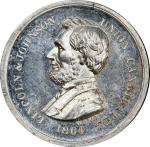 Circa 1864 Abraham Lincoln / Freedom to All Men medal. Musante GW-719, Baker-383C, DeWitt-AL 1864-5.