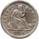 1856-S/S Liberty Seated Quarter Dollar. PCGS VF25