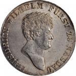 GERMANY. Nassau-Weilburg. Taler, 1812-L CT. Friedrich Wilhelm II. PCGS MS-64 Gold Shield.
