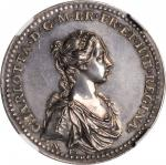 GREAT BRITAIN. Silver Coronation of Charlotte Medal, 1761. George III. NGC MS-61.