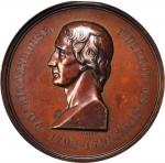 1871 David Rittenhouse Medal. By William Barber. Julian MT-1. Bronze. MS-63 BN (NGC).