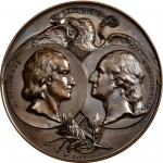 1892-93 Columbian Worlds Fair Exposition Rome Medal. Bronze. 91 mm. Eglit-102; Rulau X-14; Baker K37