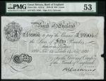 Bank of England, B.G. Catterns, £50, Leeds 14 November 1931, prefix 66X, black and white, ornate cro