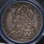 GREAT BRITAIN George II ジョージ2世(1727~60) Crown 1750  PCGS-MS63 UNC