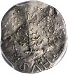 1652 Pine Tree Threepence. Noe-36, Salmon 2-B, W-640. Rarity-4. Without Pellets at Trunk--Rotated Do