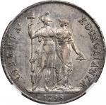 ITALY. Ligurian Republic. 8 Lire, 1798. Genoa Mint. NGC AU-53.