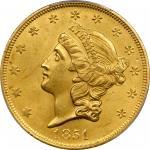 1851 Liberty Head Double Eagle. MS-64 (PCGS).
