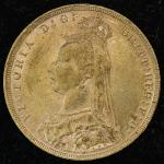 GREAT BRITAIN Victoria ヴィクトリア(1837~1901) Sovereign 1891 EF